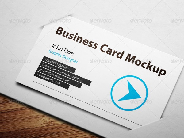 Business Card Mockup With Actions Pack