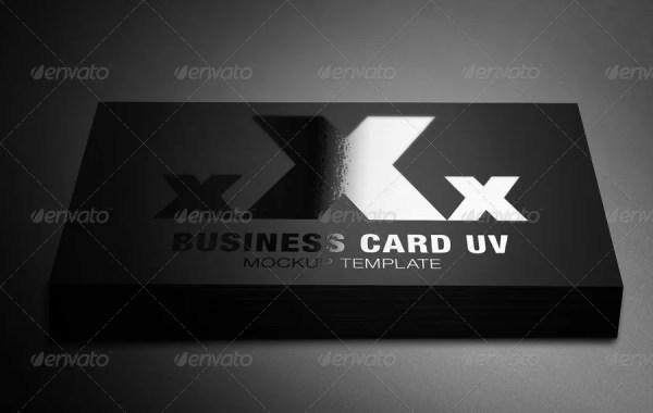 Business Card UV Mockup