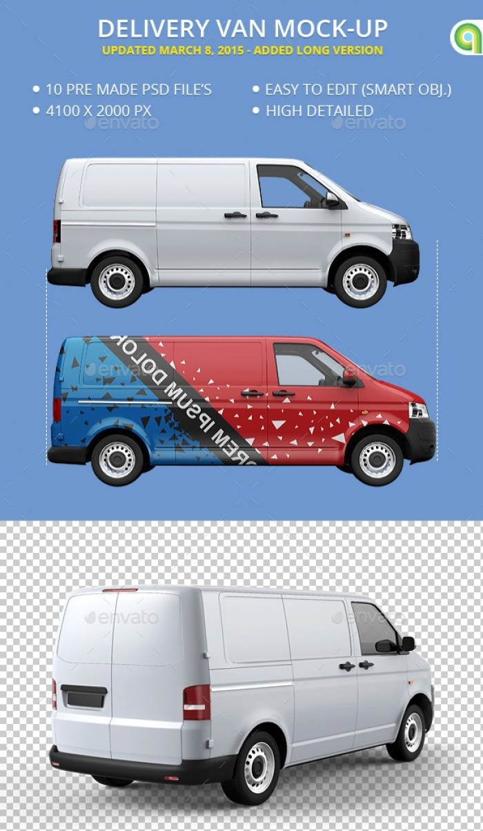 Delivery Van Mockup