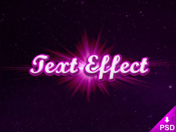 Dribbble Text Effect
