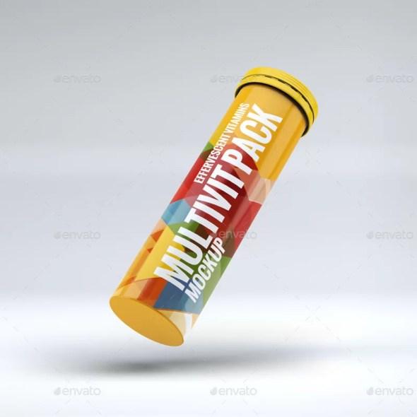 Effervescent Pills Pack Mockup