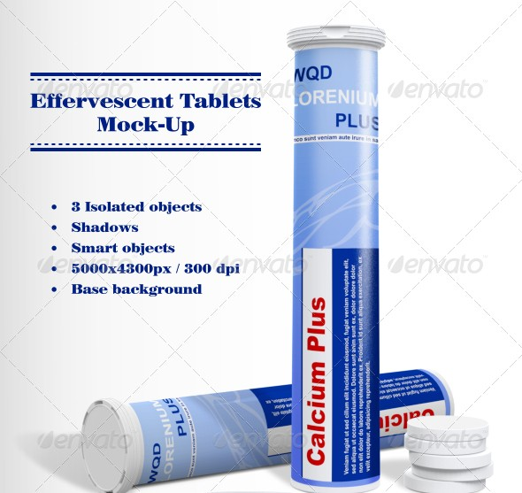 Effervescent Tablets Mockup