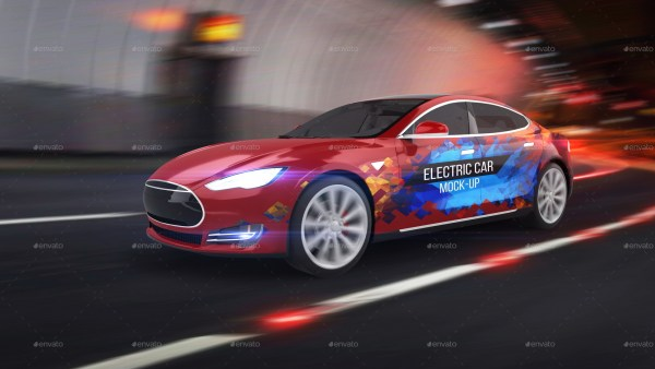 Electric Car Mockup