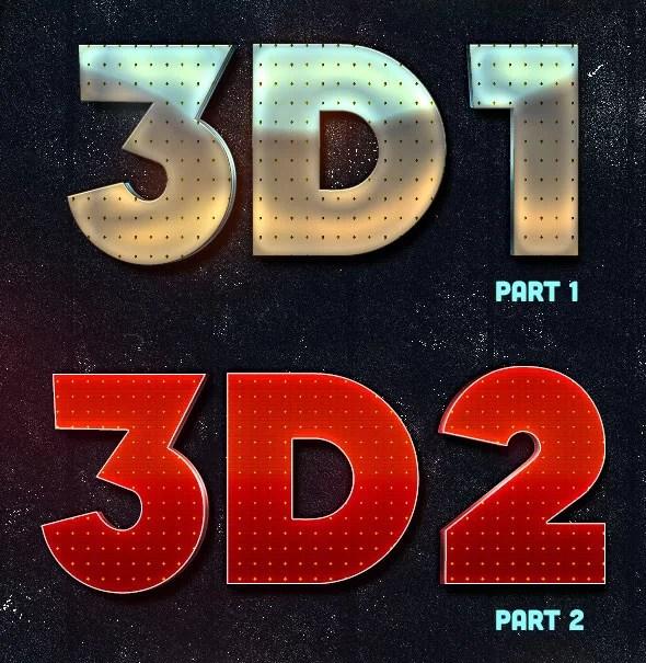 Lakose 3D Text Styles