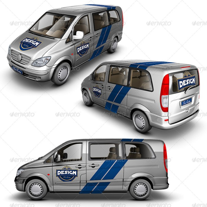 Light Van Mockup