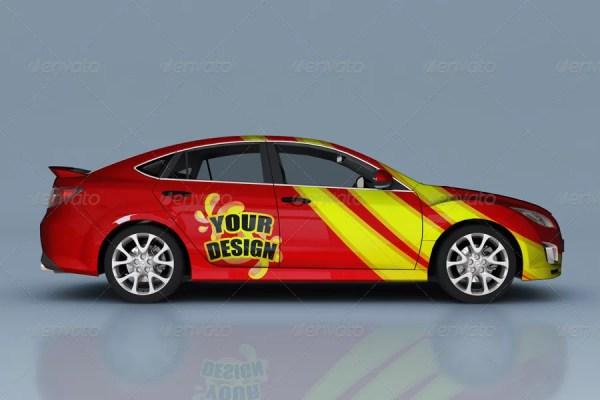 Mazda Car Branding Mockup