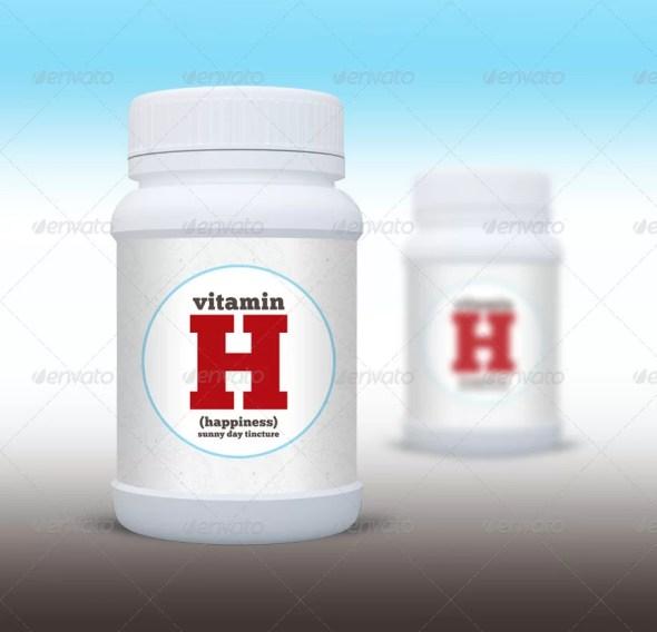 Medical Supplements Bottle Mockup
