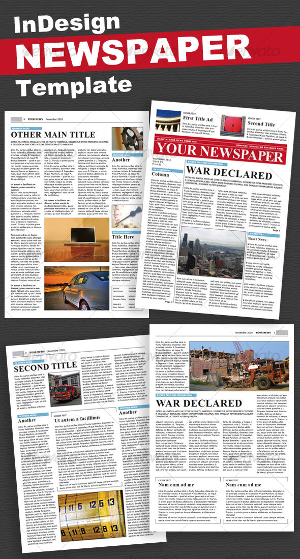 35 best newspaper templates in indesign and psd formats 4 pages newspaper template pronofoot35fo Gallery