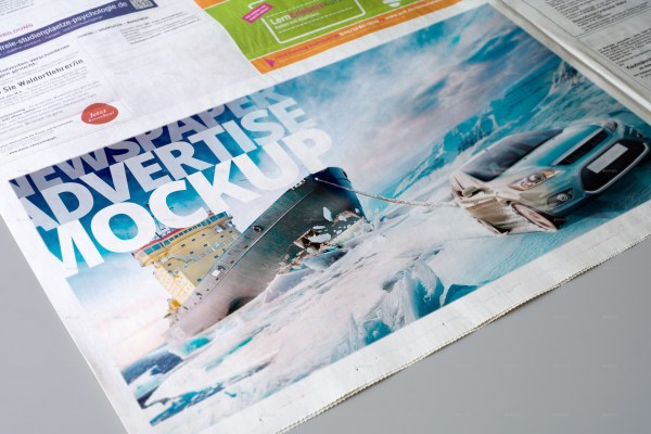 Newspaper Advertise Mockup v3