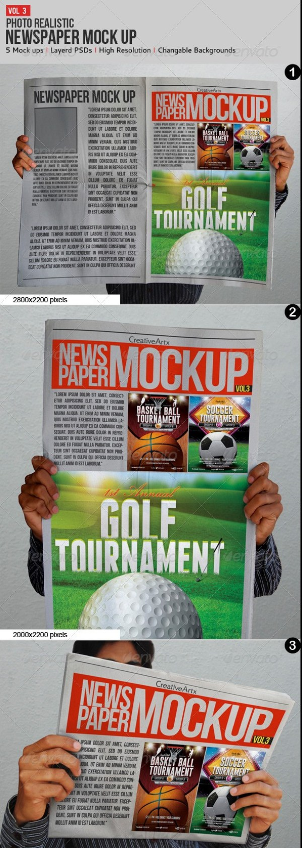 Newspaper Mockup V.3