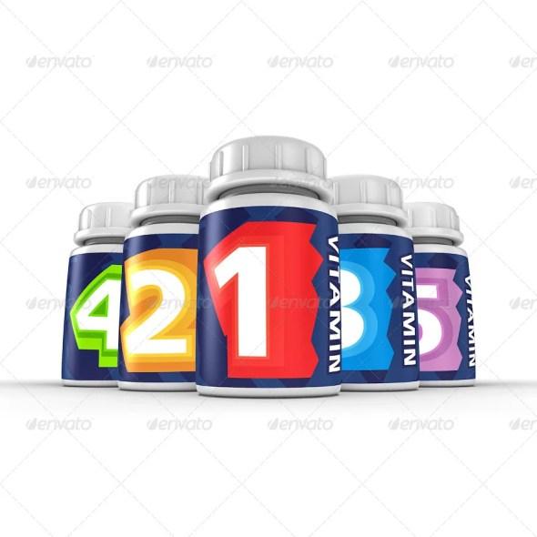 Pill Bottles Mockup