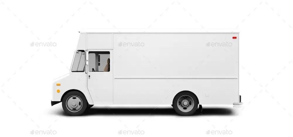 Step Van Delivery Branding Mockup