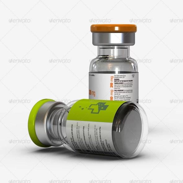Vial Bottles Mockup