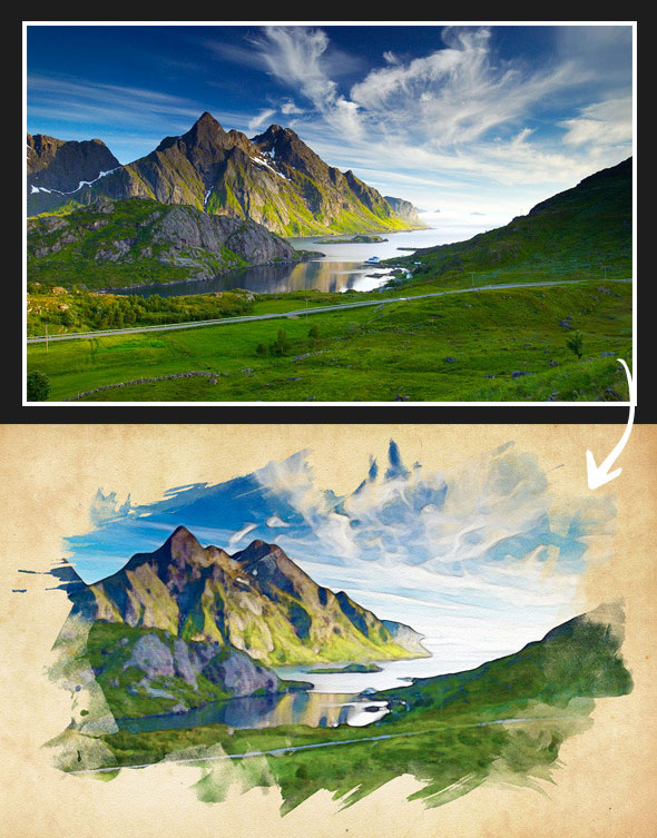Vibrant Watercolor Effect - Photoshop Action