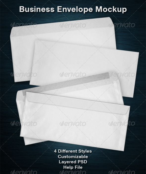 Business Envelope Mockup
