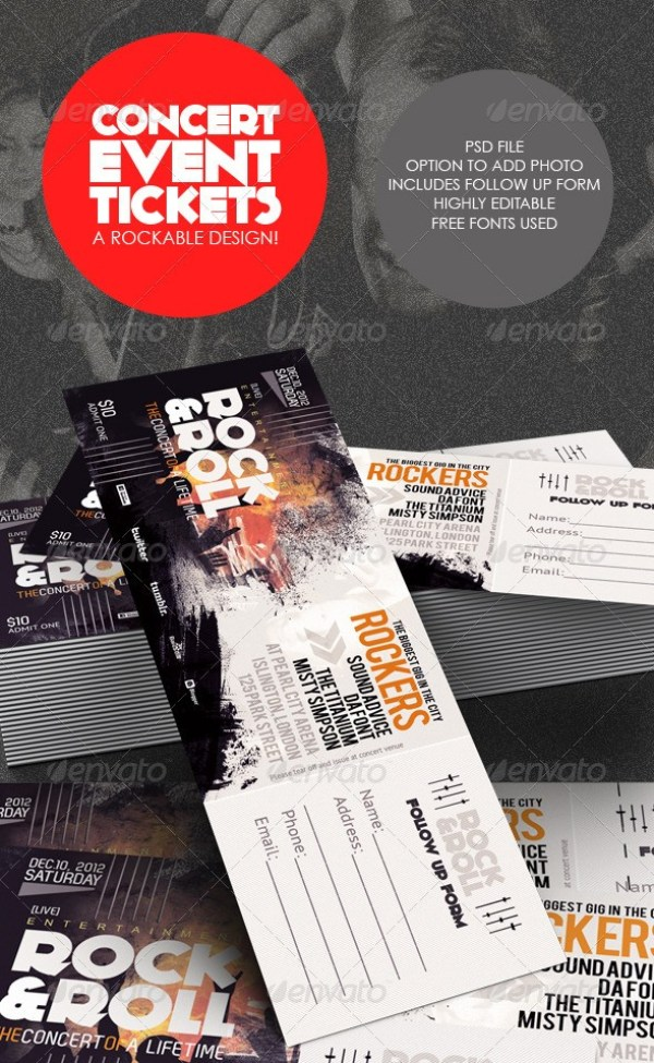 Concert & Event Tickets/Passes Template