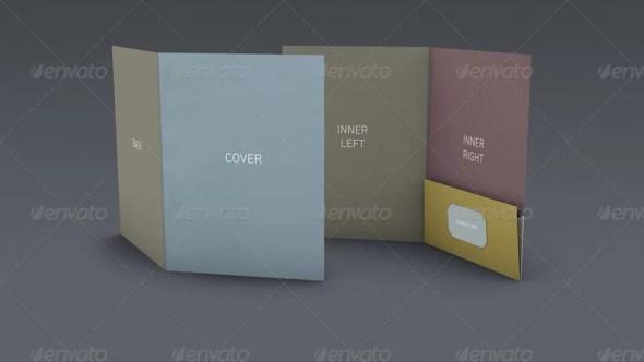 DOA Pocket Folder Mockup Set