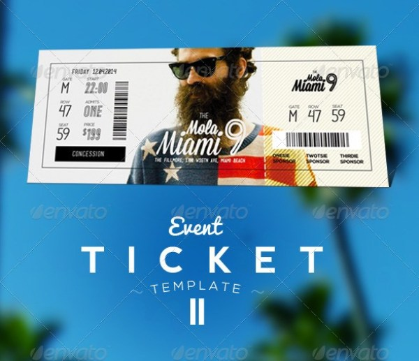 Event Tickets Template