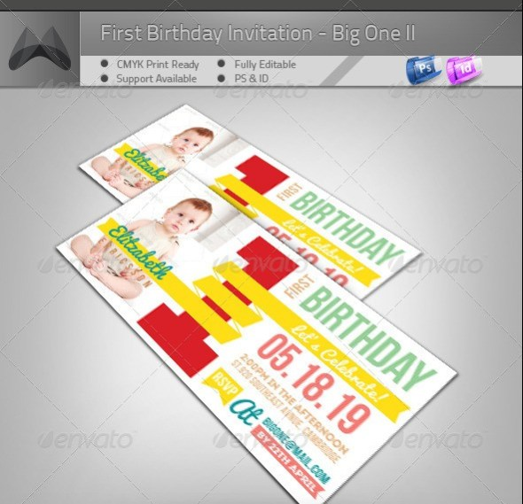 First Birthday Invitation - Big One