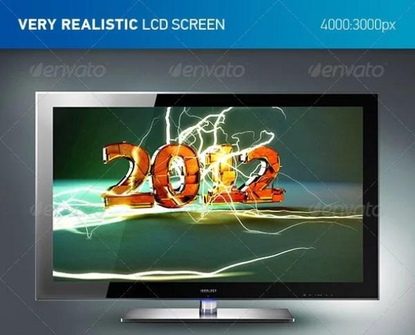 LCD TV Mockup