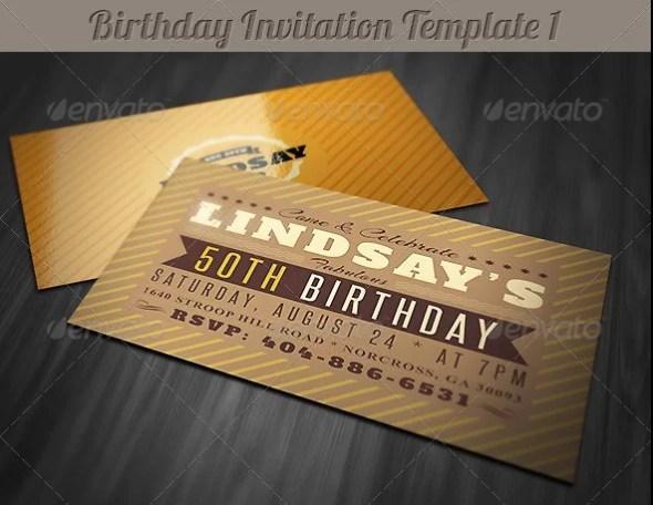 Retro Birthday Invitation 1