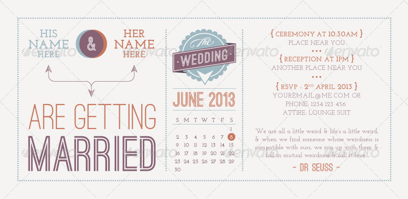 Target Wedding Invitations: 37+ Awesome PSD & InDesign Wedding Invitation Template