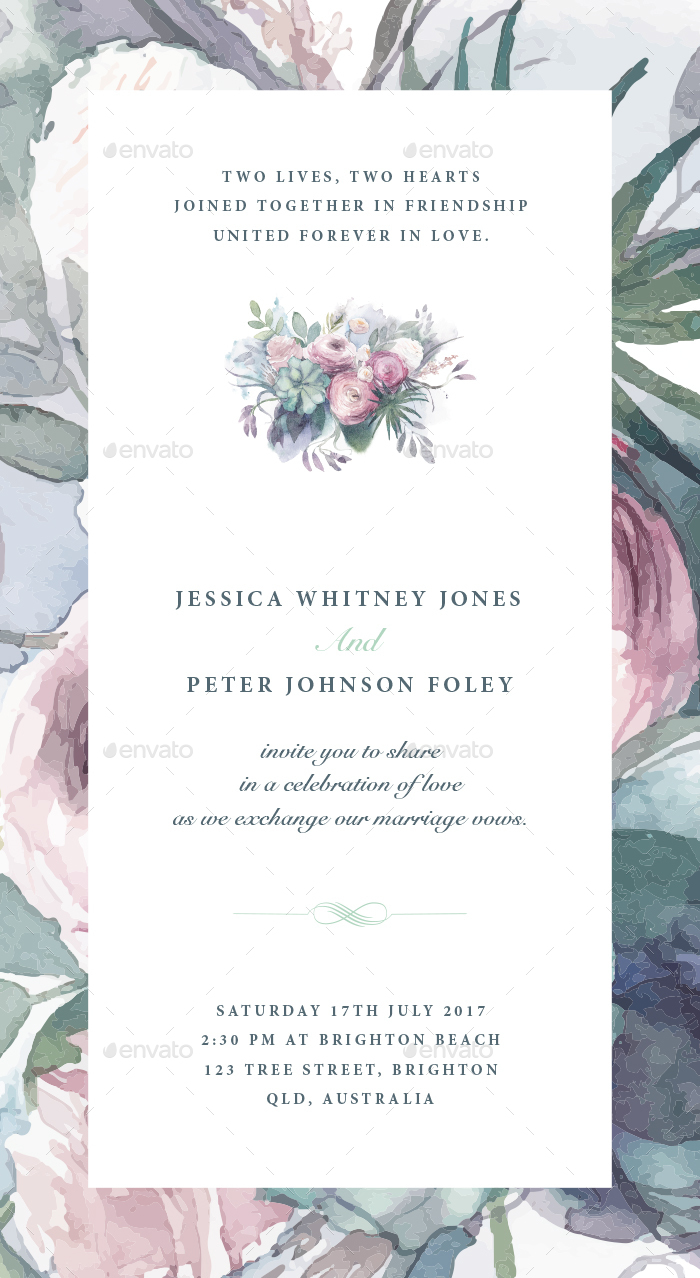 37 Awesome PSD InDesign Wedding Invitation Template Designs For