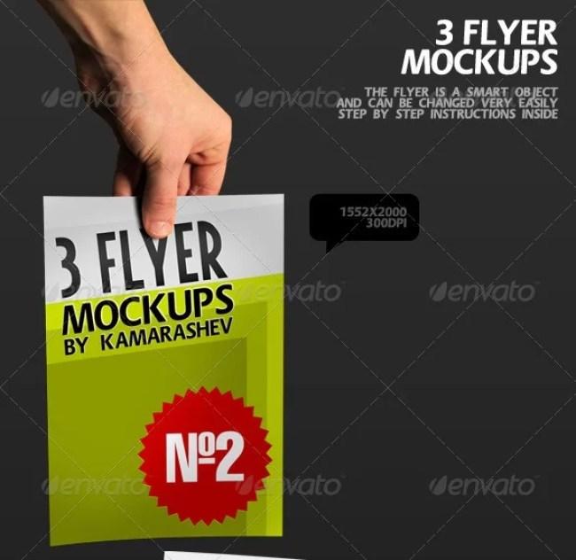 3 Flyer Mockups