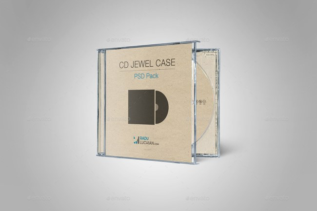 9 CD Jewel Case Mockups