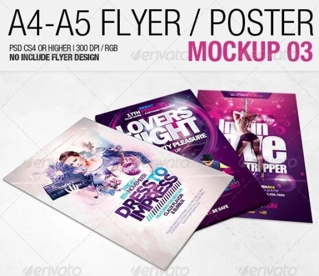 A4 - A5 Flyer Mockup 03