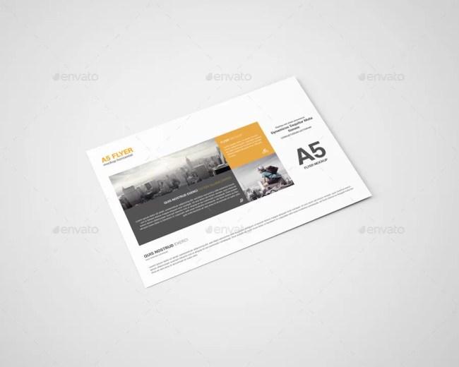 A5 Flyer Mockup - Horizontal