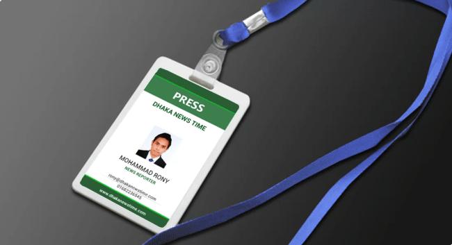 Corporate ID Card Holder Mockup PSD