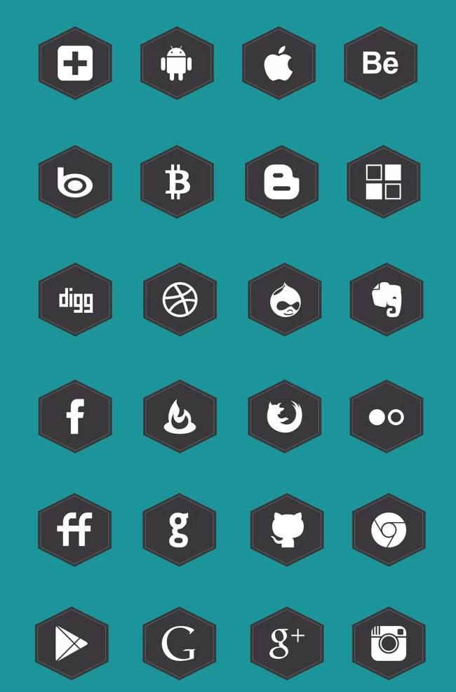 Free Black Social Media Icons Set
