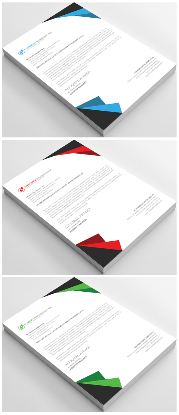 Free Business Letterhead Template PSD  Free Letterhead Template Word