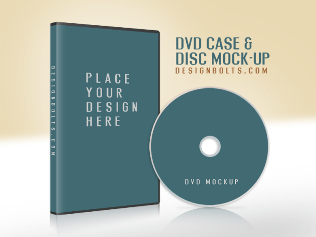 Free CD / DVD Disc Cover Mockup PSD