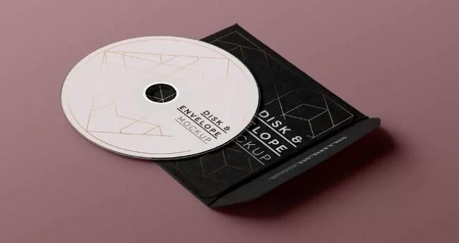 Free CD Sleeve and Disc Mockup