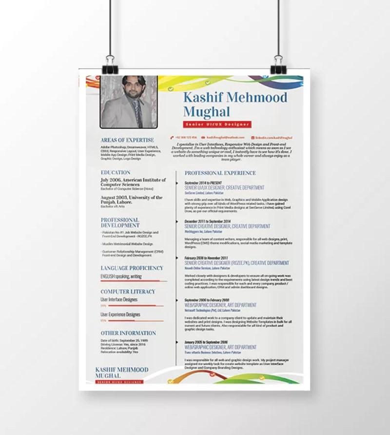Free Creative Minimal Resume Template PSD