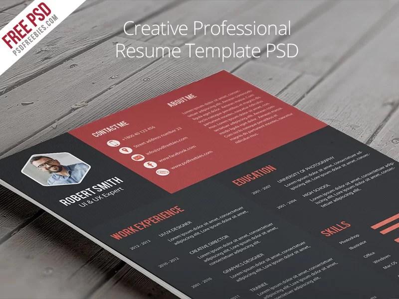 Free Creative Professional Resume Template