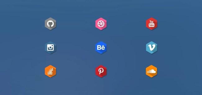 Free Long Shadow Flat Social Media Icons