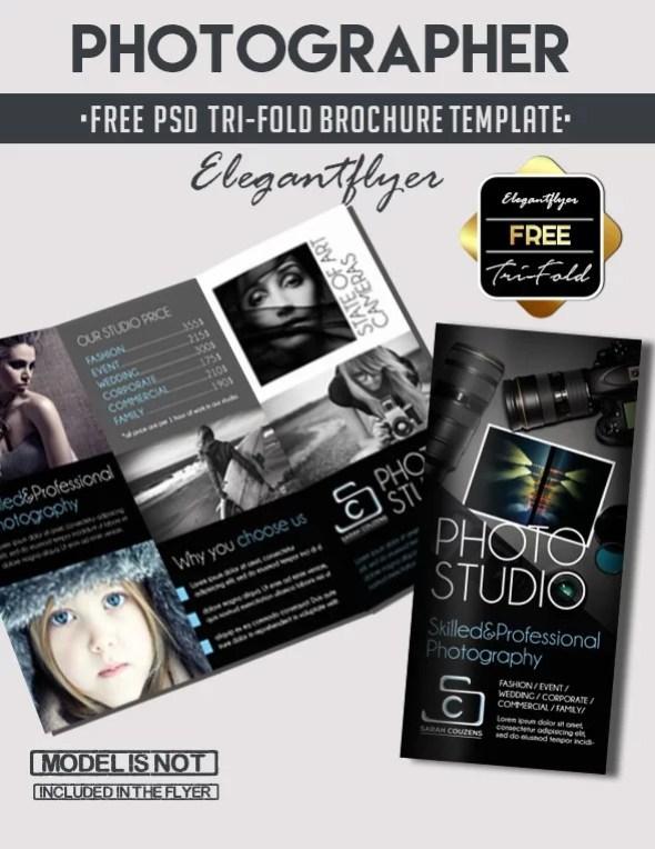 Free Tri-Fold Photographer PSD Brochure Template