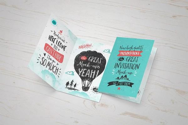 Invitation / Greeting Card Mockup