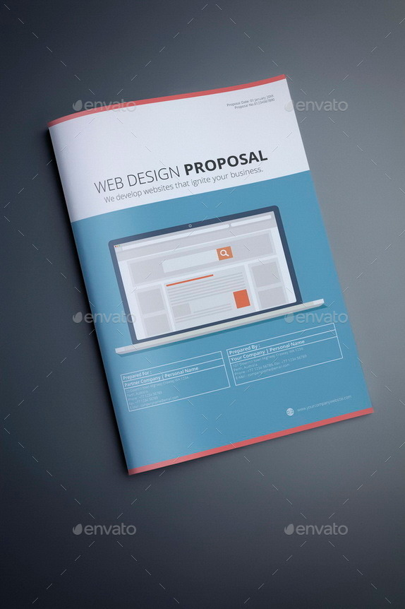 business proposal template design