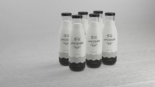 Milk Bottle - Premium Mockup