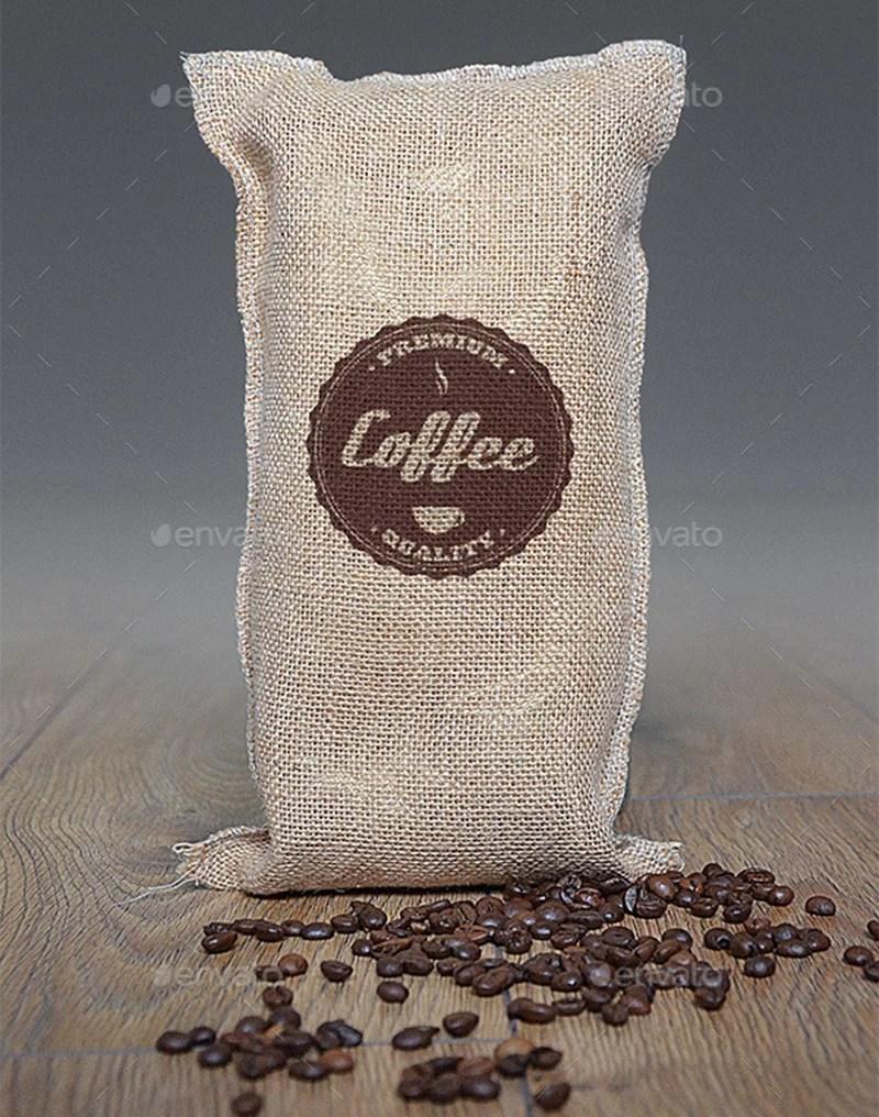 professional coffee bag logo mockup