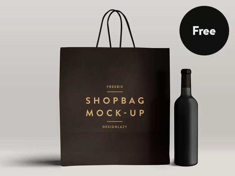 great free psd mockup shopping bag