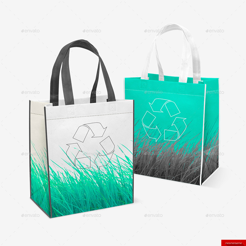 awesome eco-friendly shopping bag mockup psd premium templates