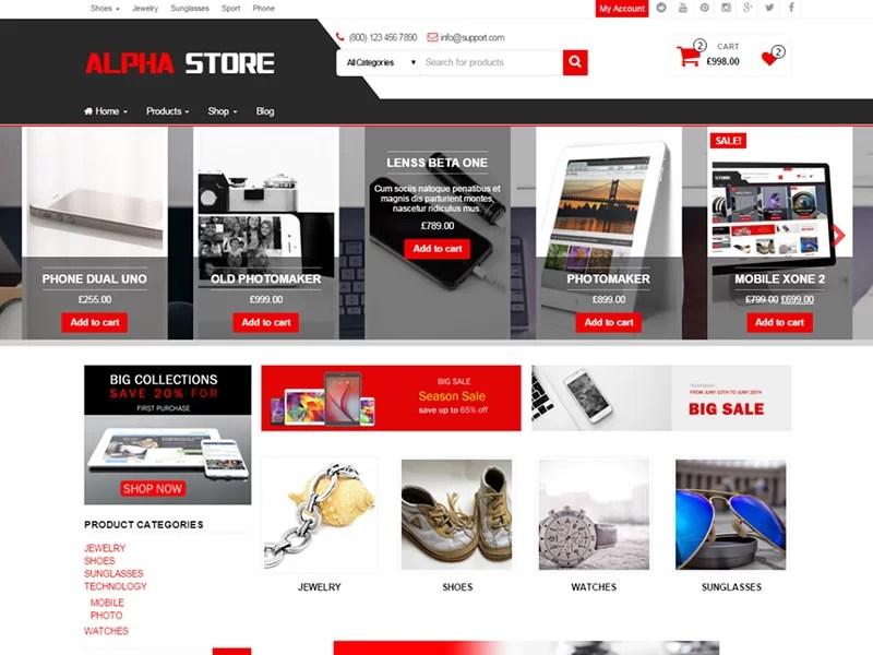 nice free ecommerce wordpress theme