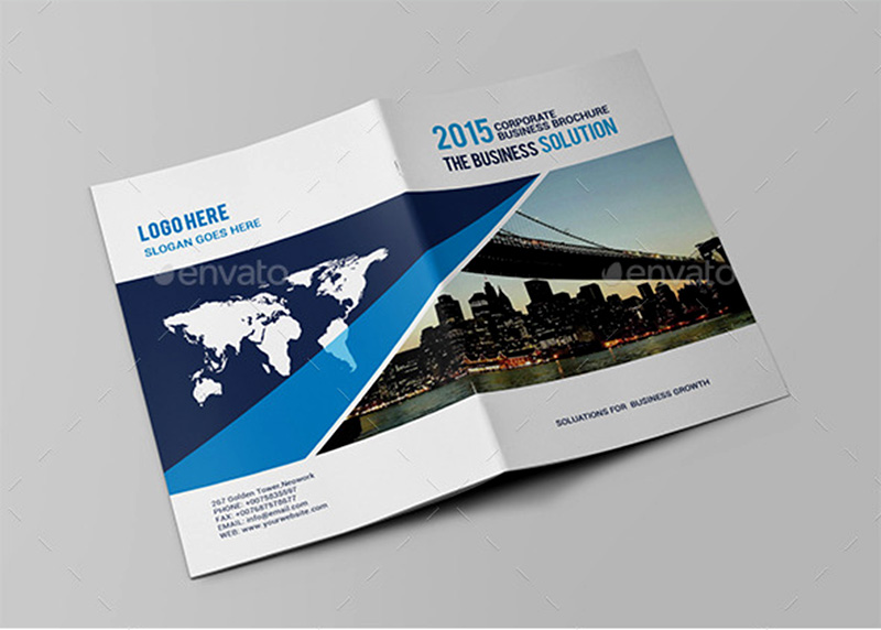 modern corporate brochure psd design