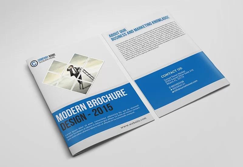 best free corporate bifold brochure psd design