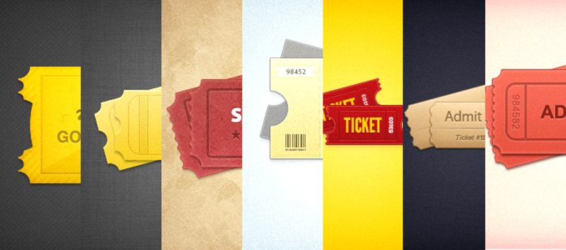 great design free event tickets psd mockup